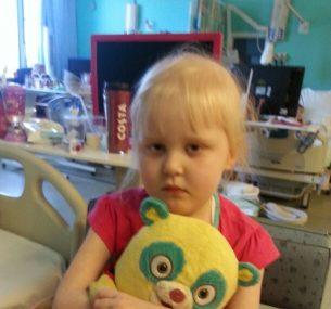 Jess with yellow teddy