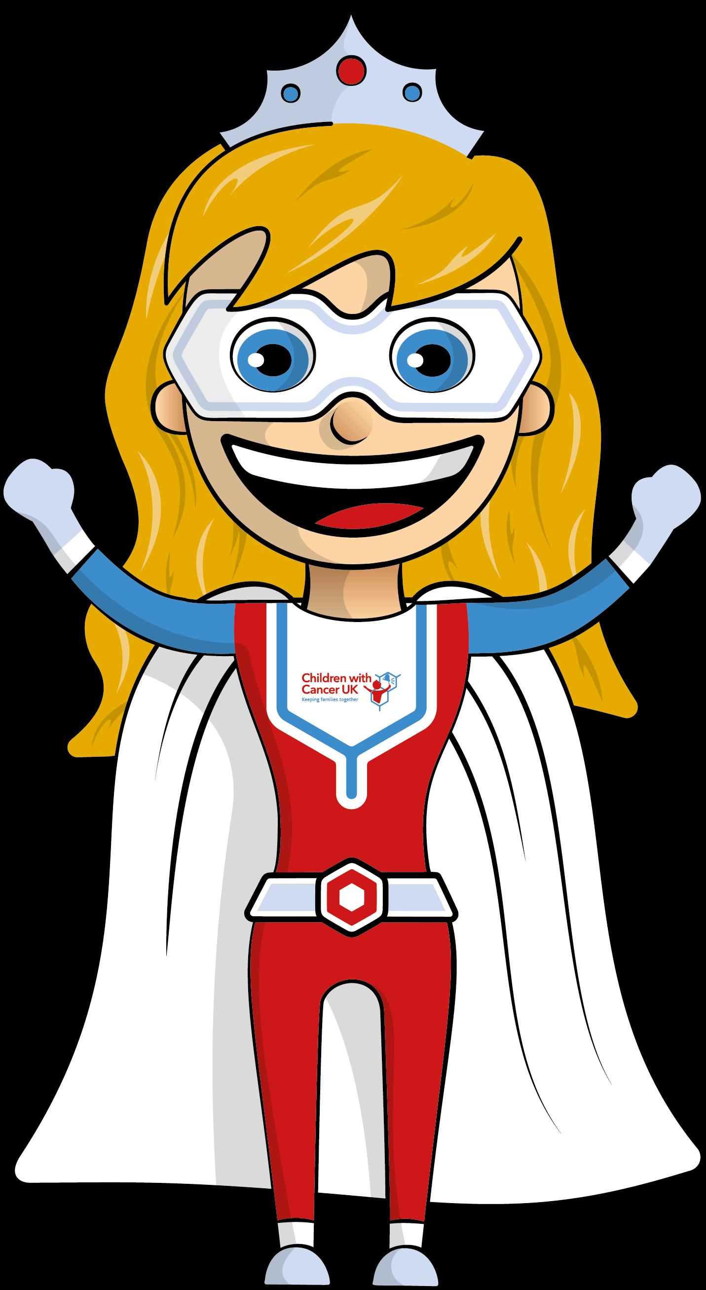 Superhero-Girl cheering