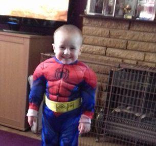 boy superhero costume