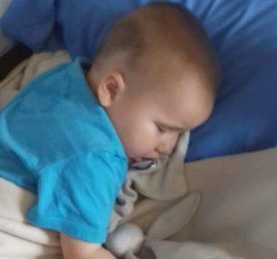 boy on hospital bed