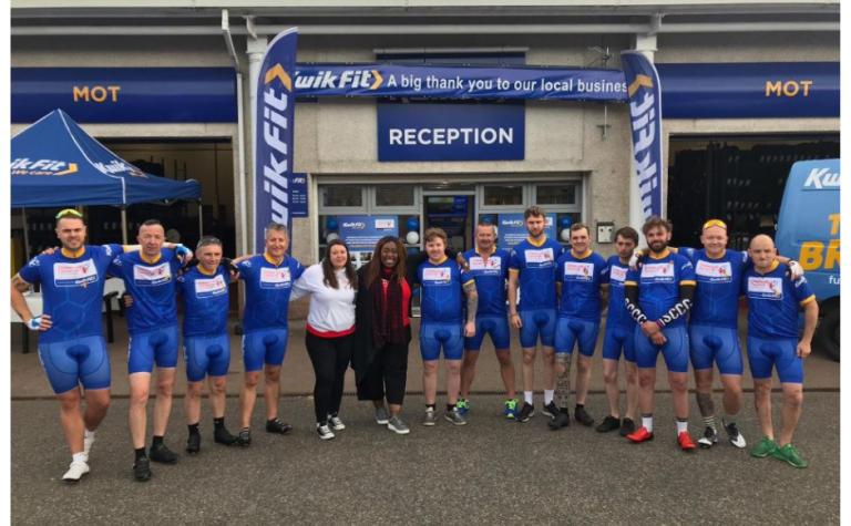 Kwik Fit Tour de branch launch in Scotland