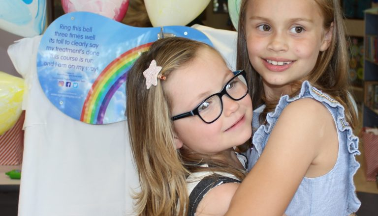 Matilda Fisher, 6, & Suki Corbett, 7
