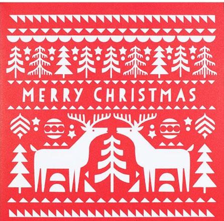 Reindeer Charity Christmas card 2019
