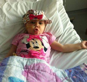 Sofia with feeding tube