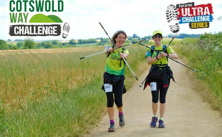 People taking part in the Cotswold Way Challenge