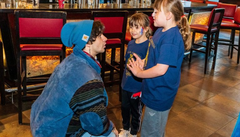 Cel Spellman, Rosie and Ruby- Breakfast with Santa, Manchester