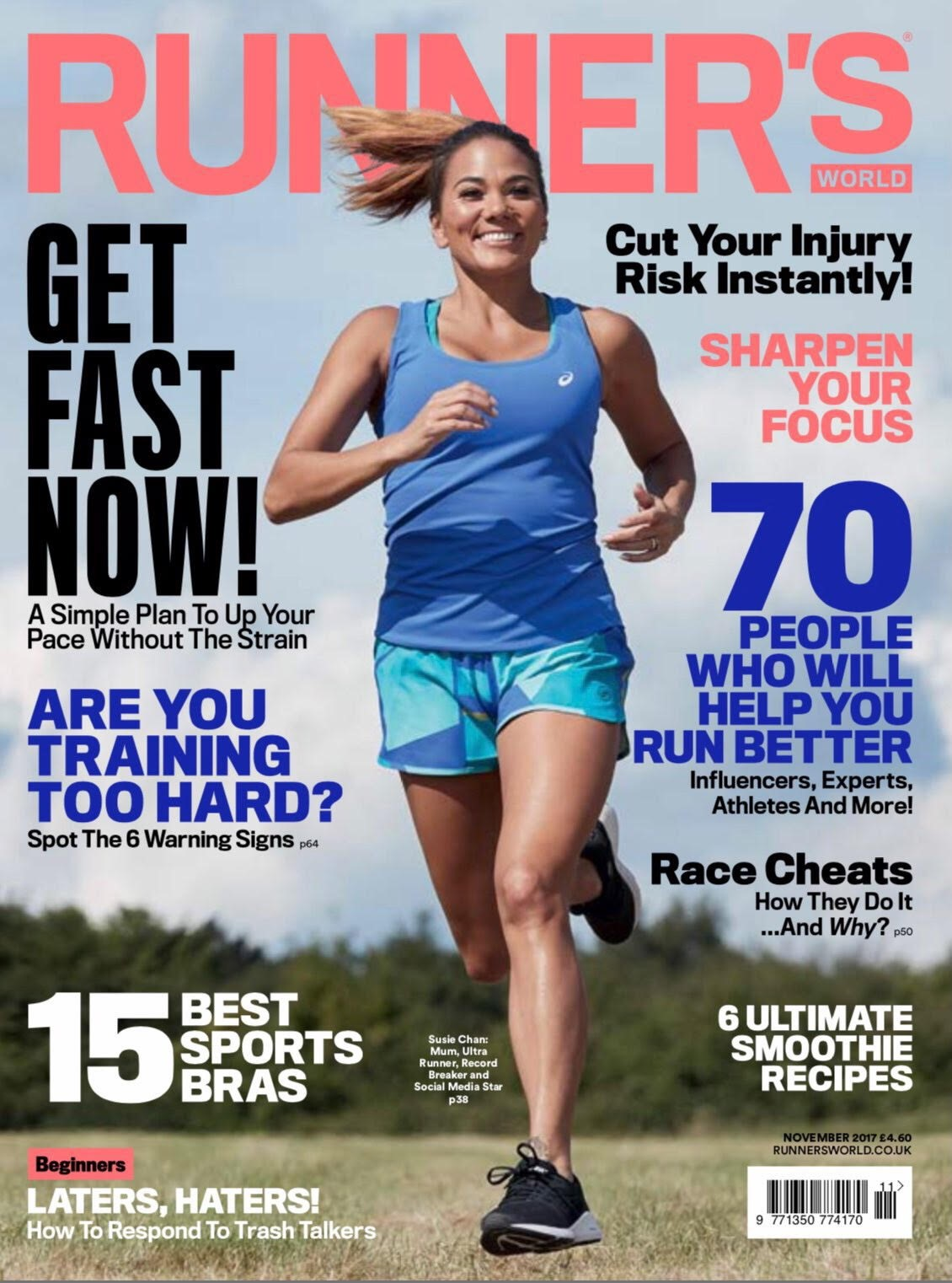 lady running in blue top susie chan runners world