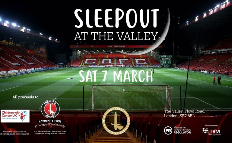 charlton sleepout at the valley