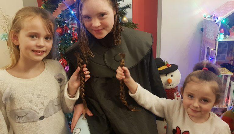 Hollie hair cut for charity 3