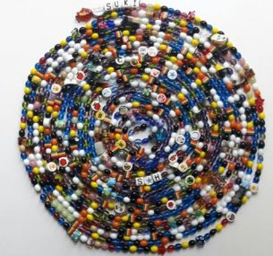 Ted string of hundreds of beads