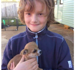 Henry with dog