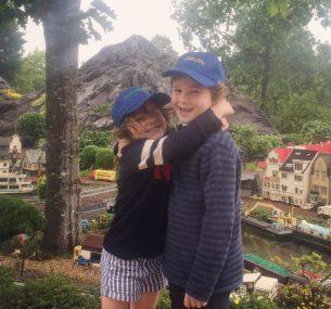 Sholto and Esmeralda at Legoland Denmark summer 2018