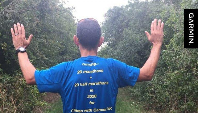 Adam runs for children with cancer uk