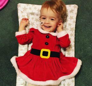 Lily Christmas photo