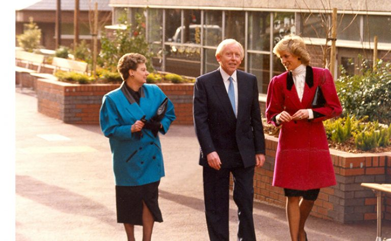 Marion with Edie and HRH Princess Diana