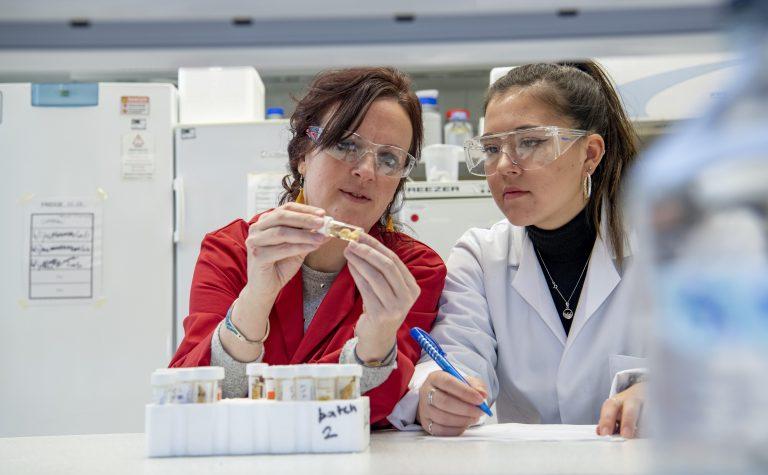 Claire Clarkin researcher wearing red coat min