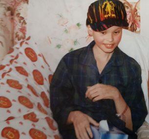Darren in hospital age 11