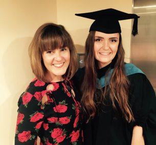 chloe graduation with mum