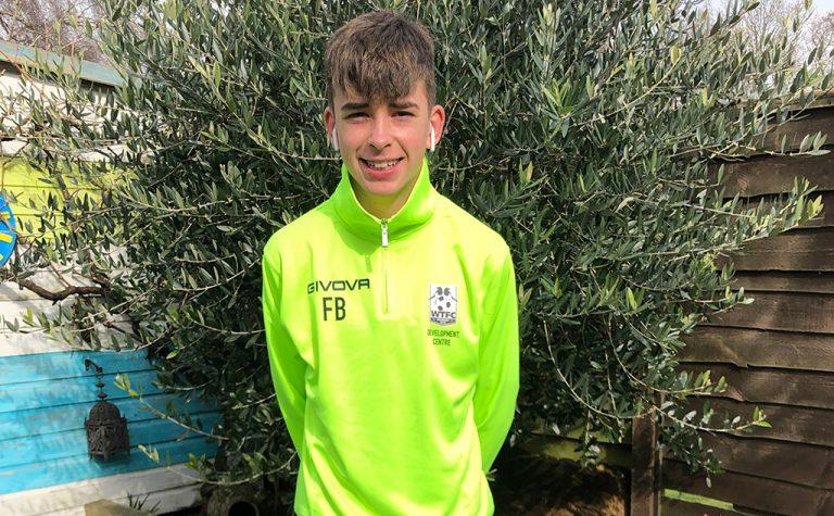 felix in neon football kit 2
