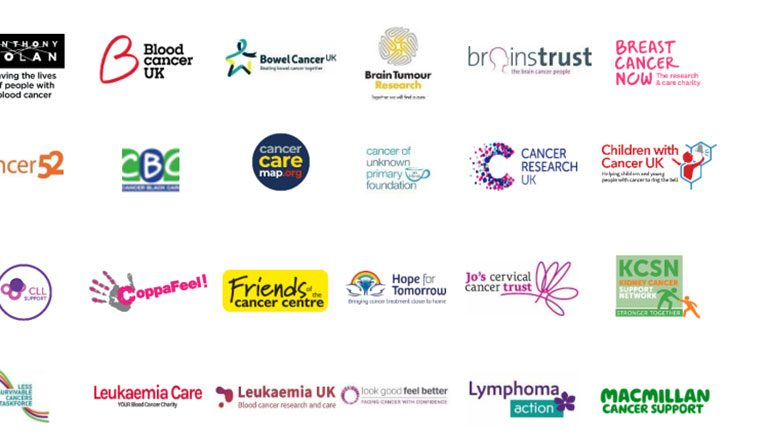 One Cancer Voice Charity logos